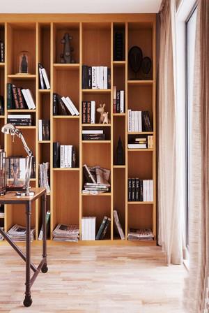 90平米现代风格书房书柜设计效果图