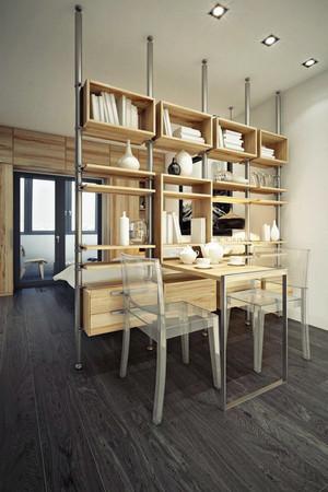110平米现代风格餐厅隔断设计效果图赏析