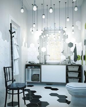 90平米现代风格卫生间马赛克瓷砖效果图赏析