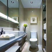 现代简约风格单身公寓卫生间装修效果图赏析
