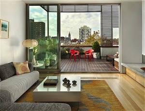 现代简约风格小户型客厅阳台装修效果图赏析