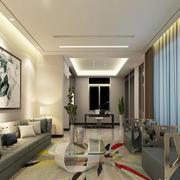 110平米现代中式风格客厅天花设计效果图鉴赏