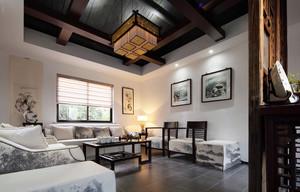 100平米新中式客厅装修效果图赏析