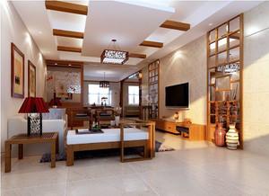 100平米中式风格客厅装修效果图赏析
