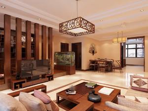 中式风格大户型客厅装修效果图赏析