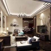 中式风格小户型客厅天花效果图赏析