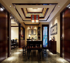 中式风格别墅书房挂画效果图赏析