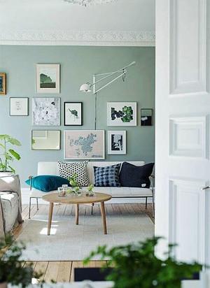 北欧风格小户型客厅沙发照片墙效果图赏析