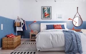北欧风格一居室卧室背景墙效果图赏析