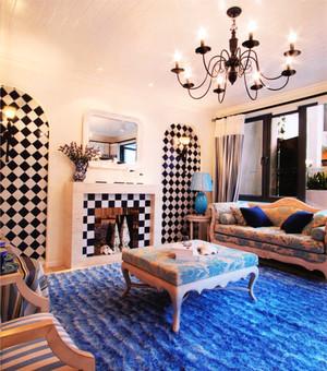 110平米地中海风格客厅装修效果图赏析