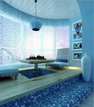 地中海风格一居室卧室飘窗设计效果图赏析