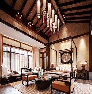 110平米东南亚风格卧室飘窗装修效果图赏析
