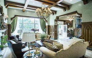 古典美式风格别墅客厅装修效果图赏析