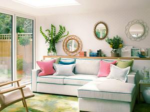 85平米韩式风格客厅装修效果图赏析