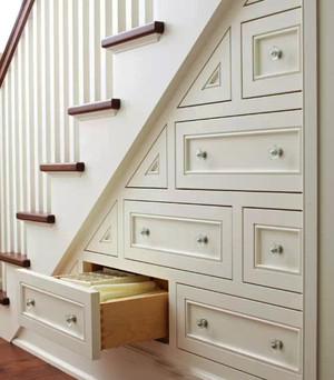 简约风格复式楼楼梯收纳效果图赏析