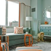 欧式田园风格小户型客厅装修效果图赏析