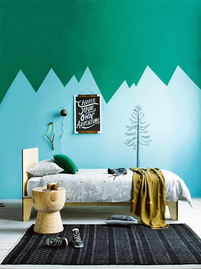 清新田园风格小户型卧室装修效果图
