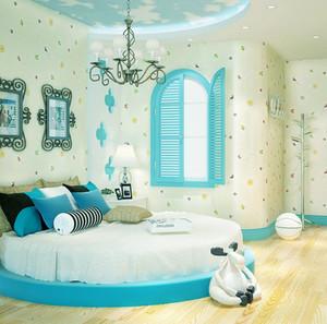 105平米小清新风格儿童房装修效果图赏析
