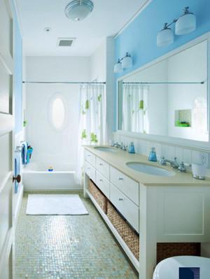 小清新风格单身公寓卫生间装修效果图赏析