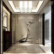 新中式风格别墅玄关装饰画效果图赏析