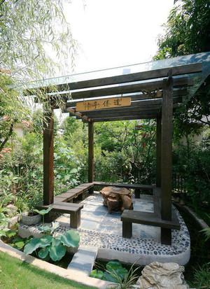 中式风格别墅庭院花园装修设计效果图赏析