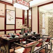 中式风格三居室餐厅隔断设计效果图赏析