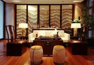 110平米中式风格客厅屏风设计效果图鉴赏
