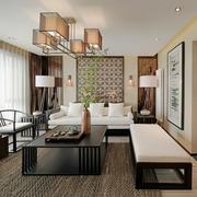 中式风格小户型客厅实木茶几效果图赏析