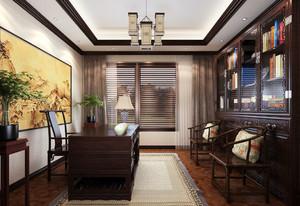 中式风格别墅书房天花设计装修效果图赏析