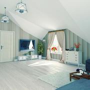 115平米北欧风格阁楼客厅效果图鉴赏