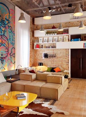 65平米北欧风格客厅墙柜设计效果图鉴赏