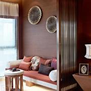 110平米东南亚风格客厅隔断设计效果图赏析