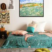 都市小清新风格一居室女生卧室背景墙效果图