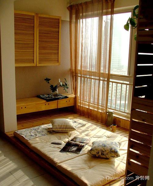 78平米韩式风格卧室榻榻米设计效果图鉴赏