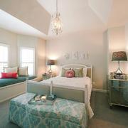 100平米简欧风格卧室飘窗设计效果图赏析