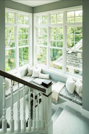 简欧风格别墅楼梯飘窗设计效果图赏析