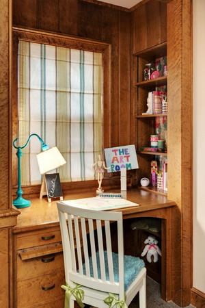 美式风格小户型临窗书房装修效果图鉴赏