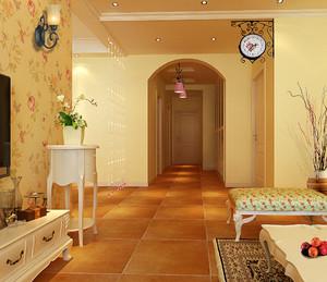 欧式田园风格三居室客厅装修效果图赏析