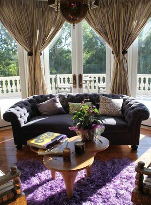 欧式风格别墅阳台窗帘设计效果图赏析