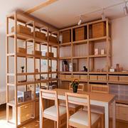 90平米日式风格卧室餐厅隔断设计效果图