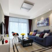 现代简约风格单身公寓客厅装修效果图赏析