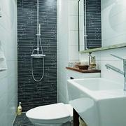 现代简约风格单身公寓卫生间装修效果图