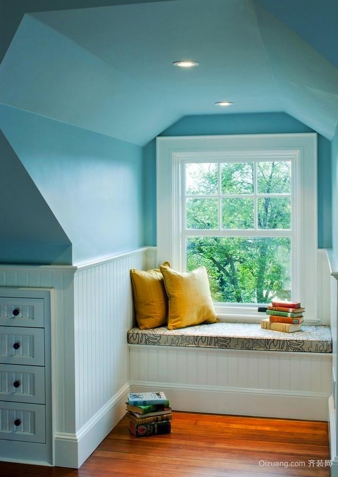 138平米现代美式风格阁楼飘窗设计效果图鉴赏