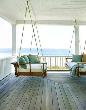 现代美式风格别墅阳台装修效果图赏析