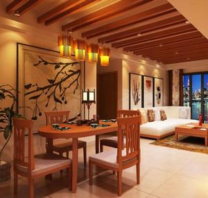 中式风格三居室餐厅装修效果图赏析