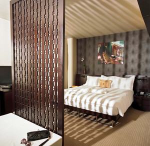 中式风格二居室卧室隔断设计效果图鉴赏