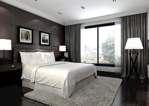 现代简约风格黑白色两室两厅装修效果图