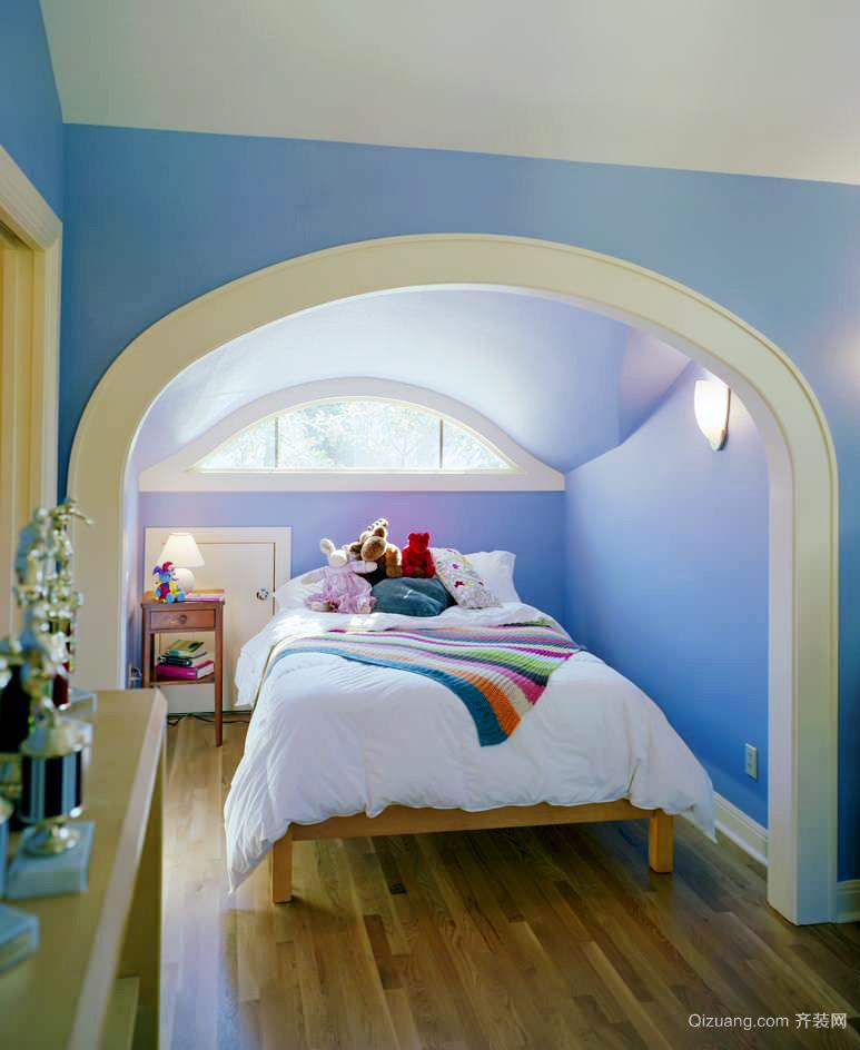2016大户型地中海风格儿童房高低床装修效果图