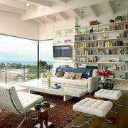 后现代风格大户型客厅书房设计装修效果图