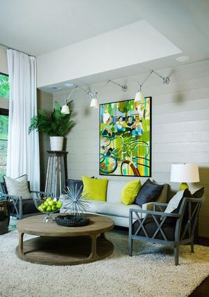 后现代风格小户型客厅无吊顶装修效果图赏析
